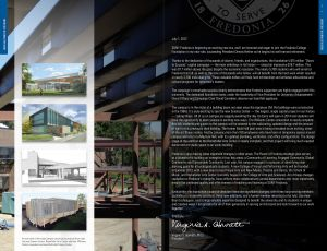 Fredonia College Foundation Annual Report, 2012, interior spread