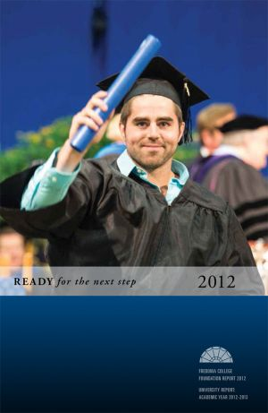Fredonia College Foundation Annual Report, 2012, cover