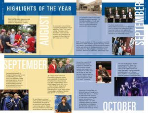 Fredonia College Foundation Annual Report, 2011, interior spread