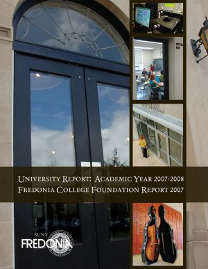 Fredonia College Foundation Annual Report, 2007, cover