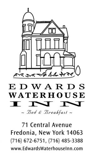 Edwards Waterhouse Inn, business card