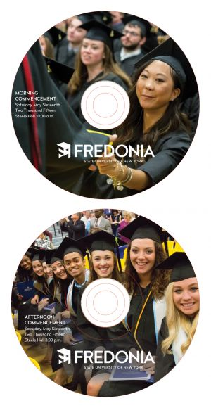 Commencement DVD package, disc imprint art
