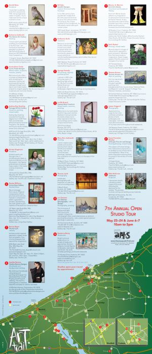 Art Trail brochure, 2015, unfolded side 1