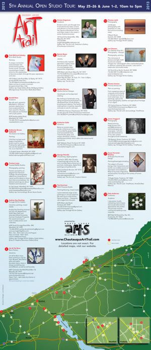 Art Trail brochure, 2013, unfolded side 1