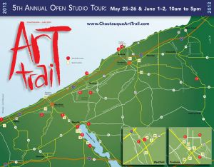 Art Trail brochure, 2013, map detail