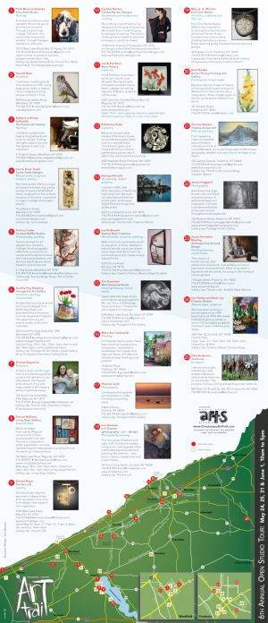 Art Trail brochure, 2014, unfolded side 1