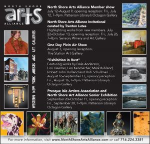 North Shore Arts Alliance Ad, events feature