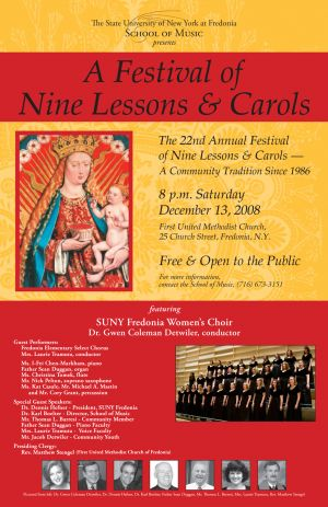 Lessons and Carols poster, 2008