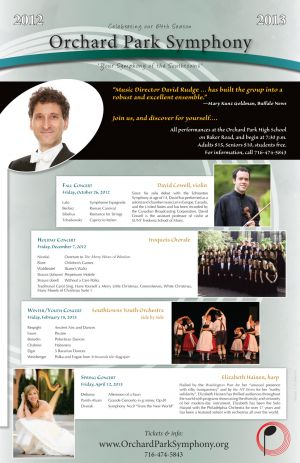 Orchard Park Symphony Orchestra season poster, 2012, front