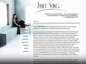 Janet Sung, violinist