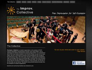 Improv Collective, landing page