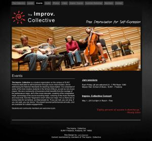Improv Collective, events page